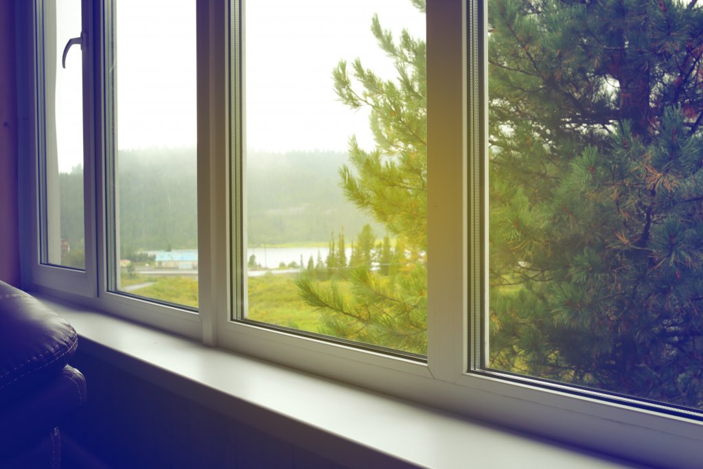 double glazing window with a nice landscape view